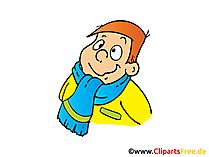 冬のスカーフと冬のジャケット画像、クリップアート、イラスト、コミック