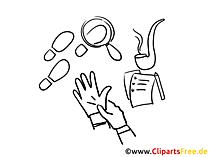 Zeichnung Detektei