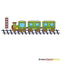 Zug Clipart, Lokomotive Bild, Cartoon, Illustration gratis