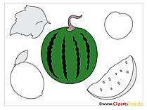 Groenten en fruit toepassingssjablonen