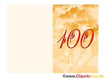 100. Geburtstag Glückwunschkarte drucken online