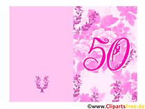 Einladungskarte 50. Geburtstag selbst gestalten