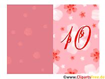 Glückwunsch 10 Jahre Klappkarten zum Drucken