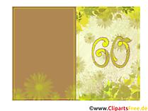 Karte schöne Glückwünsche zum 60. Geburtstag