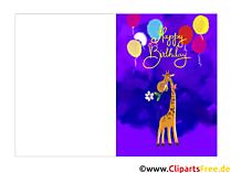 E Cards kostenlos Geburtstag zum Drucken
