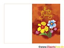 Doğum günü için katlanmış kartlar