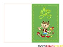 Email Geburtstagskarte zum Kindergeburtstag kostenlos