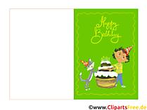 Faltkarte zum Geburtstag kostenlos herunterladen und drucken