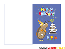 Faltkarten zum Geburtstag selbst Drucken