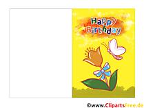 Faltkarten zum Geburtstag selbst erstellen