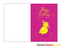 Geburtstagskarte elektronisch zum Kindergeburtstag kostenlos