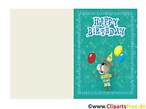 Geburtstagskarte Email zum Kinder Geburtstag gratis