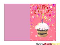 Geburtstagskarten Kindergeburtstag kostenlos
