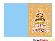 Geburtstagswunsch für Kinder kostenlos - Druckvorlage Grusskarte