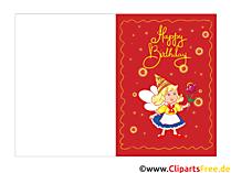 Glückwünsche Kindergeburtstag Karte zum Drucken kostenlos