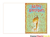 Glückwunschkarten Happy Birthday kostenlos