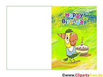 Glückwunschkarten selbst gestalten zum Kindergeburtstag
