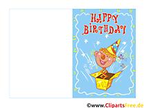 Happy Birthday Glückwunschkarte kostenlos