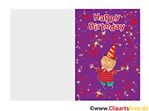 Karten selbst gestalten und drucken zum Kindergebburtstag