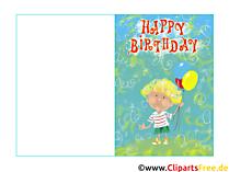 Kindergeburtstagsglückwünsche kostenlos Karte