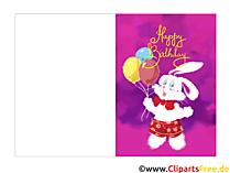 Klappkarte zum Geburtstag selbst machen kostenlos