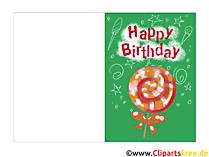 Klappkarten zum Geburtstag selbst basteln kostenlos