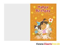 Kostenlose Glückwünsche zum Kindergeburtstag