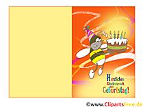 Çocuk doğum günü için katlanmış kartlar