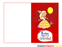 생일 접이식 카드