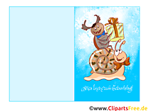 Grußkarte, Klappkarte zum Geburtstag drucken