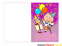 Karten zum Kinder-Geburtstag selbst basteln