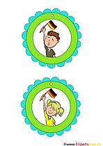 Deutschland Medaillien für Kinder zum Drucken