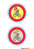 Fahrrad fahren Medaille kostenlos