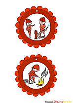 Feuerwehr Medaillen für Kinder als Vorlage