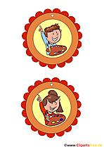 Kindergeburtstagsmedaillen zum Drucken Vorlagen