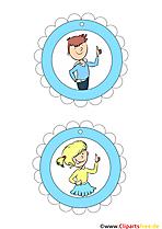 Kostenloase Vorlagen Medaillen für Kinder