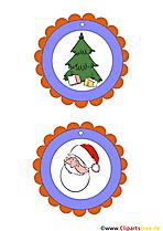 Medaille Weihnachten für Kinder