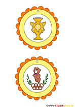 Medaillen für Kinder Fußball, Sport, Olympiade
