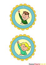 Medaillen für Kinder Vorlagen zum Ausdrucken