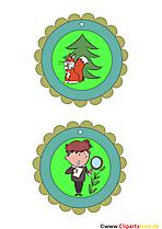Medaillen für kleine Forscher Vorlagen zum Basteln