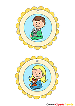 Medaillen Kindergeburtstag und Sport kostenlose Vorlage