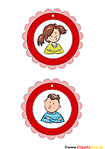 Medaillen Vorlagen für Kids