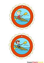 Olympische Medaillen zum Kindergeburtstag basteln