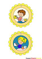 Vorlagen für Bastelstunde Medaillen Kinder