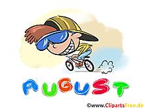 August Clipart - Monate kostenlose Bilder zum Drucken