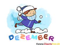 Dezember Clipart - Monate kostenlose Bilder zum Drucken