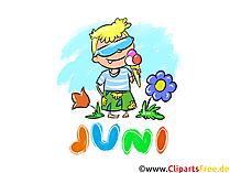 Juni Clipart - Monate kostenlose Bilder zum Drucken