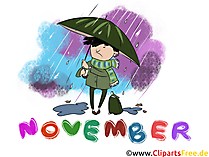 November Clipart - Monate kostenlose Bilder zum Drucken