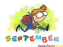 September Clipart - Monate kostenlose Bilder zum Drucken