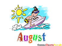 August Illustration - Month Clip Art free